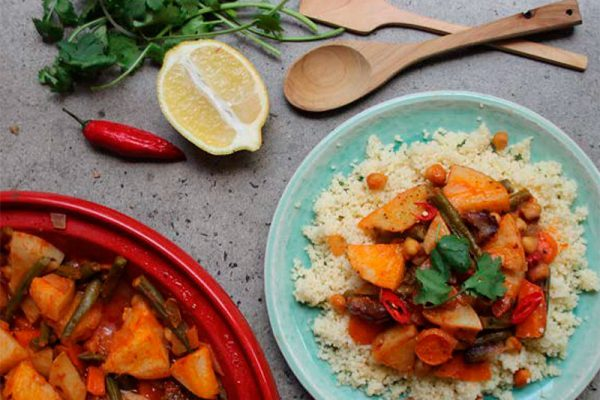 Moroccan Chickpea and Vegetable Tagine