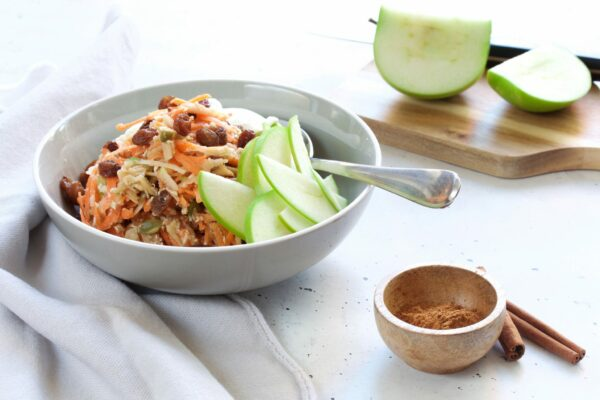 Breakfast Bircher with Apple & Carrot